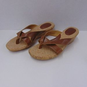 BOC Born Concepts Brown Wedge Sandals Shoes 7M